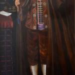 L'alcalde d'Almatret. Obra del pintor Miquel Viladrich