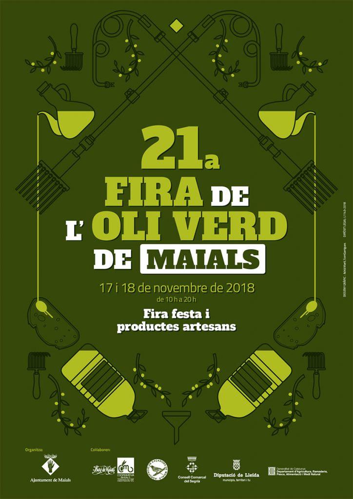 Cartell XXIà edicií Fira de l'oli verd de Maials